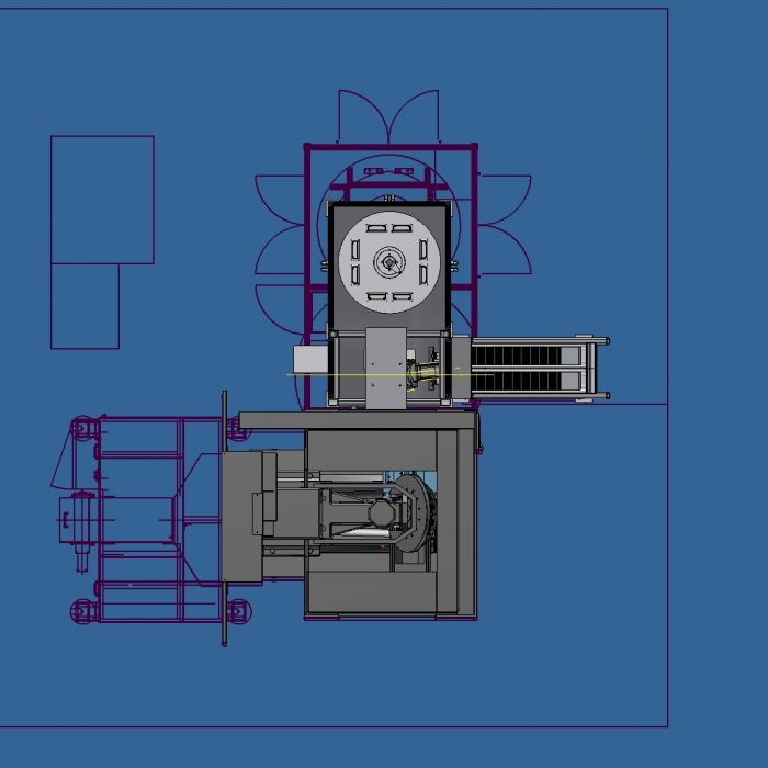 Design Concept Robodrill with Robot and Trunnion Fixture 1