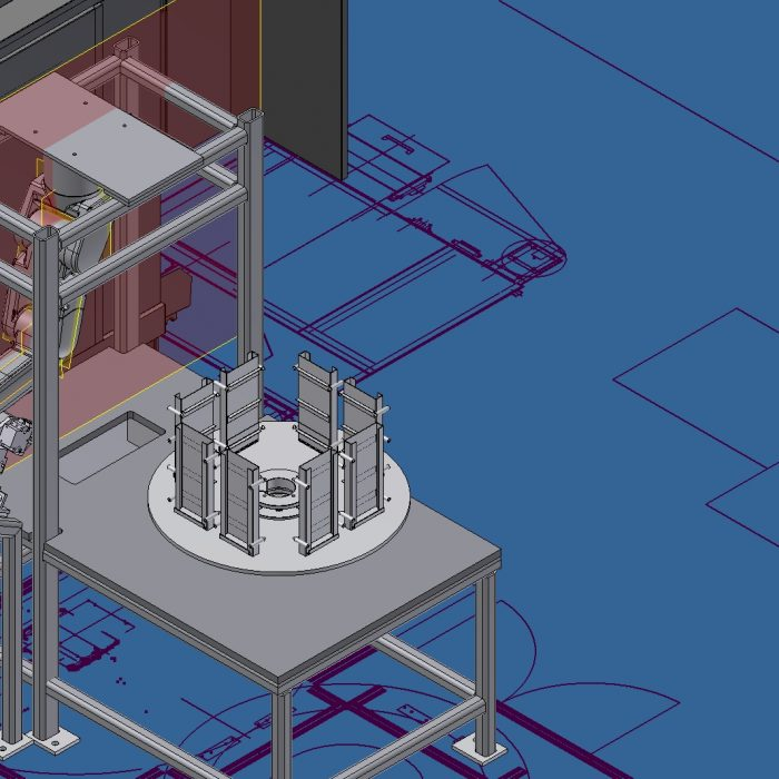 Design Concept Robodrill with Robot and Trunnion Fixture 3