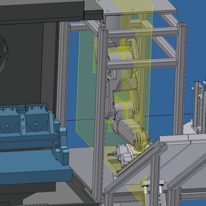 Design Concept Robodrill with Robot and Trunnion Fixture 5