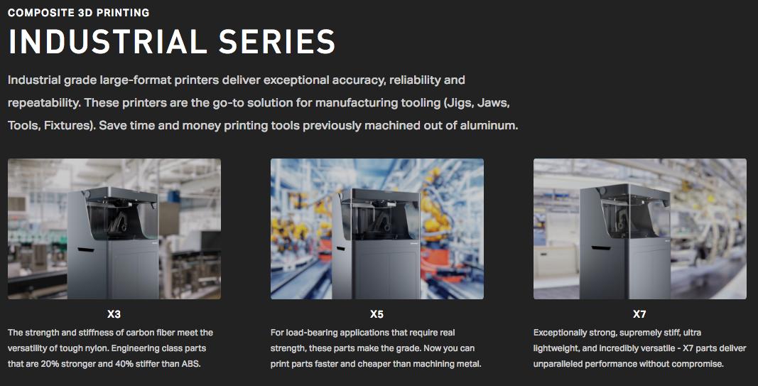 Markforged industrial 3D printers Meredith Machinery