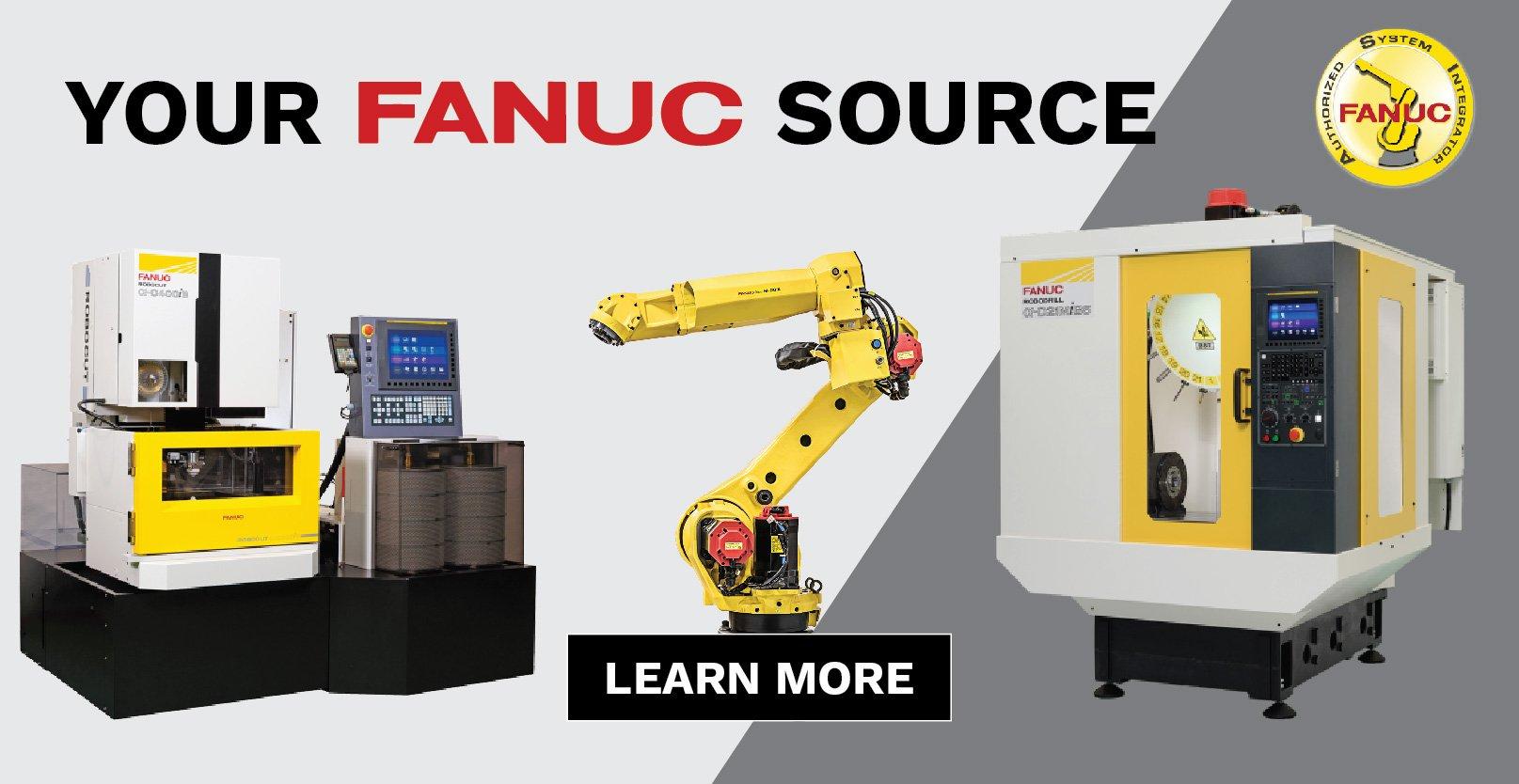 Meredith Machinery FANUC Wire Fanuc Robodrill Fanuc Robotic Fanuc Integrator